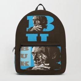 Charles BUKowski - POP-ART - sepia blue Backpack