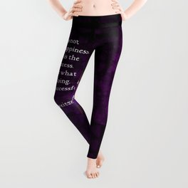 Happiness Is The Key To Success Uplifting Inspirational Quote Leggings