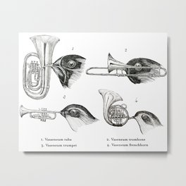 Orchestral Brass Family Metal Print