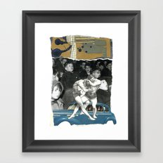 Time To Quit Wrestling With Yourself Framed Art Print
