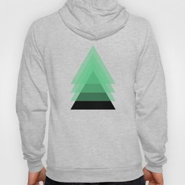 Abstract #18 Green, Black and Beige Hoody