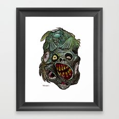Heads of the Living Dead  Zombies: Fish Fusion Zombie Framed Art Print