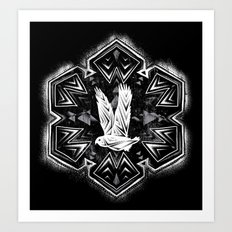 Snowy Owl Flake Art Print