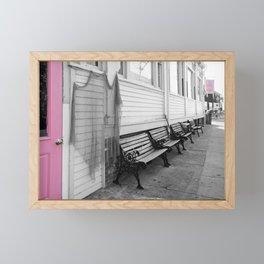 Provincetown, Cape Cod, in Pink Framed Mini Art Print