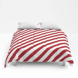 Candy Cane - Christmas Illustration Comforters