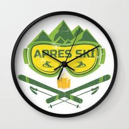 Apres Ski Huts Outfit Wall Clock