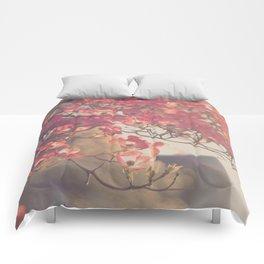 Pink Flowering Dogwood Comforters