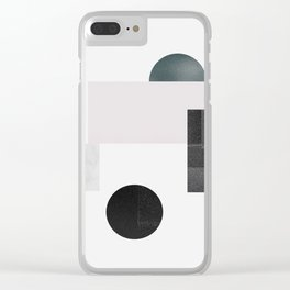 Black ball Clear iPhone Case