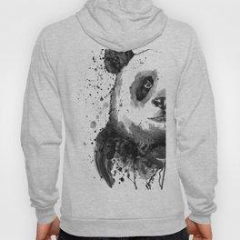 Black And White Half Faced Panda Hoody