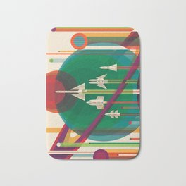 NASA Retro Space Travel Poster The Grand Tour Bath Mat