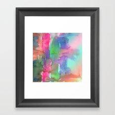 Rainbow Waterfall Framed Art Print