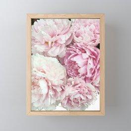 A bunch of peonies Framed Mini Art Print