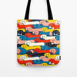 COLORED DOGS PATTERN 2 Tote Bag