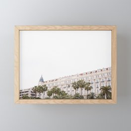 Pretty Cannes | Carlton hotel on the beach in the South of Spain | Color Framed Mini Art Print