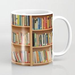 Bookshelf Books Library Bookworm Reading Coffee Mug