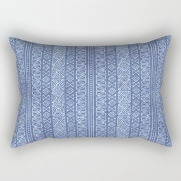 Tribal Batik in Cornflower Blue Rectangular Pillow