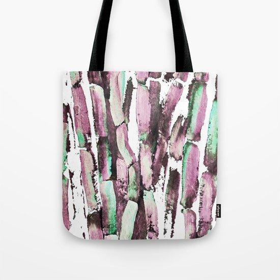 Purple Sugarcane on Greenery Tote Bag