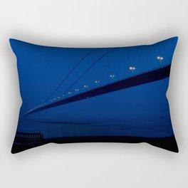 The bridge and the bench Rectangular Pillow