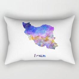 Iran in watercolor Rectangular Pillow