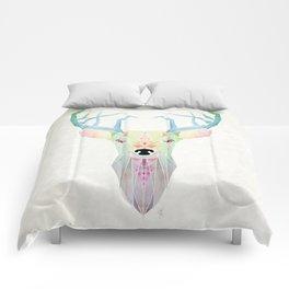white deer Comforters