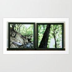 Cox Arboretum Diptych Art Print