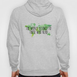 The World Belongs to Those Who Read - Watercolour Hoody
