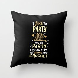 Crocheting Throw Pillow