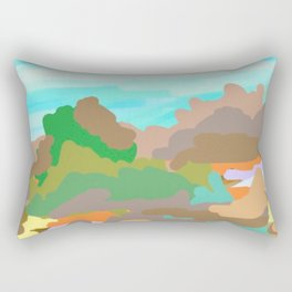 Heroes Climb Mountains Rectangular Pillow