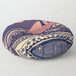 Psychedelic mountains (colour option) Floor Pillow