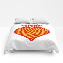amo españa Comforters