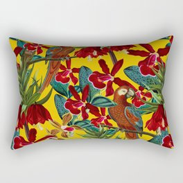 Vintage & Shabby Chic - Colorful Parrots tropical Jungle Pattern Rectangular Pillow