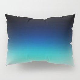 Blue Gray Black Ombre Pillow Sham