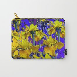 Decorative  Wild Yellow & Purple Iris Garden Abstract Carry-All Pouch