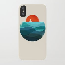 Deep blue ocean iPhone Case