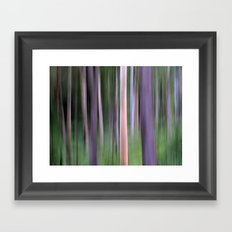 Purple Forest Framed Art Print