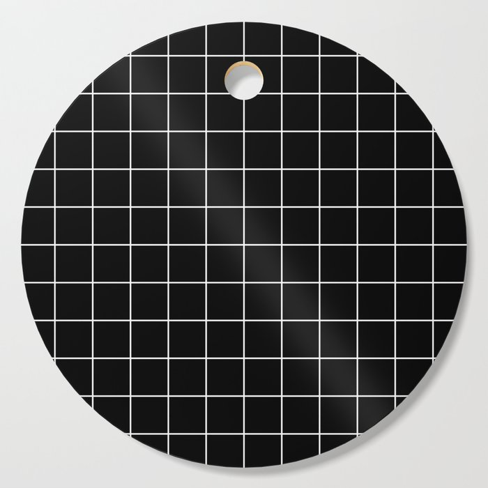 Grid Simple Line Black Minimalist Cutting Board