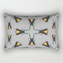 Amber Beetles Pattern Rectangular Pillow