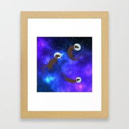 Otter space Framed Art Print