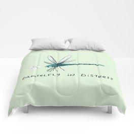 Damselfly in Distress Comforters