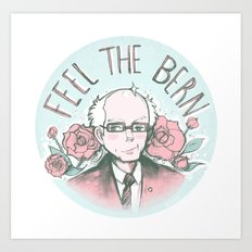 Feel The Bern Nee-san! Art Print