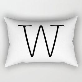 Letter W Typewriting Rectangular Pillow