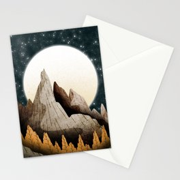 The mountainous outcrop Stationery Cards