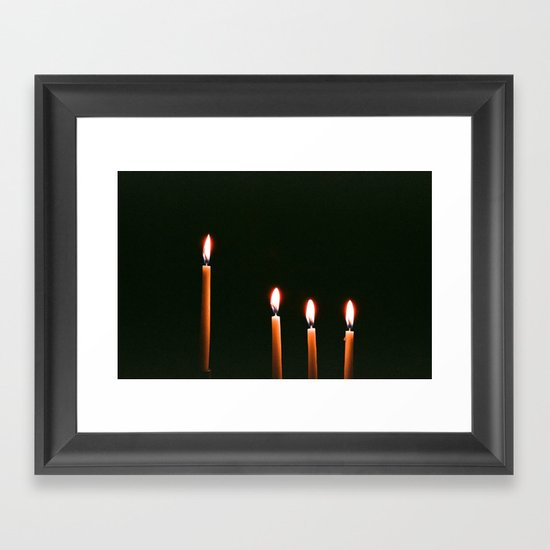 Candle Light Framed Art Print