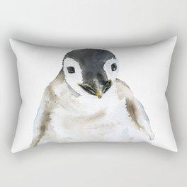 Baby Penguin Watercolor Rectangular Pillow