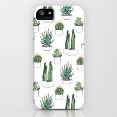 watercolour cacti and succulent iPhone (5, 5s) Slim Case