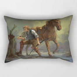 In the swamp - Leïlan Rectangular Pillow
