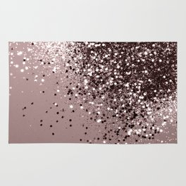Sparkling Mauve Lady Glitter #1 #shiny #decor #art #society6 Rug