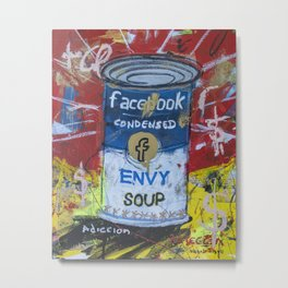 Envy Soup Preserves Metal Print