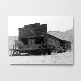Old Butte Mining Camp in Randsburg, California Metal Print