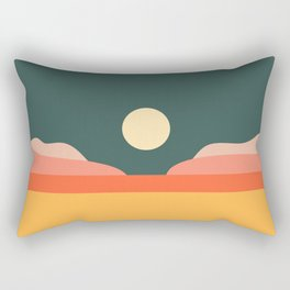 Geometric Landscape 14 Rectangular Pillow